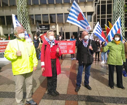 BBN-BdA Kreisvereinigung Bielefeld auf der Demo gegen das neue Versammlungsgesetz in NRW